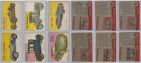 1954 Topps, World on Wheels, Lot of Six Automobiles, 11, 13, 14, 15, 17, 18