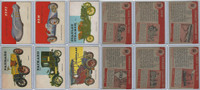 1954 Topps, World on Wheels, Lot of Six Automobiles, 38, 39, 41, 44, 48, 56