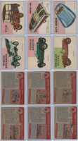 1954 Topps, World on Wheels, Lot of Six Automobiles, 57, 58, 59, 61, 64, 65
