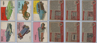 1954 Topps, World on Wheels, Lot of Six Automobiles, 81, 90, 94, 95, 96, 103
