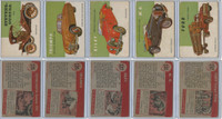1954 Topps, World on Wheels, Lot of Five Automobiles, 125 126 127 131 132