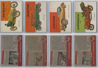 1954 Topps, World on Wheels, Lot of Four Automobiles, 133, 135, 136, 148
