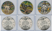 R123 Seal Craft, Discs, 1930's, Lot 3 Dogs, Dachshund, English Sheep, Setter
