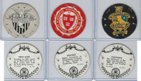 R123 Seal Craft, Discs, 1930's, Lot 3 Colleges, West Point, Harvard, California