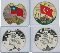 R123 Seal Craft, Discs, 1930's, Lot 2 Flags, China, Turkey