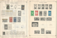 Aden, Ethiopia, Afghanistan Stamp Collection 50 Scott International Pages