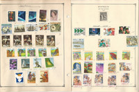 Australia Stamp Collection 30 Scott International Pages, 1978-2004