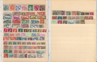 Belgium & Bulgaria Stamp Collection 18 Scott International Pages
