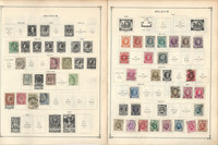 Belgium Stamp Collection on 80 Scott International Pages, 1850-2002