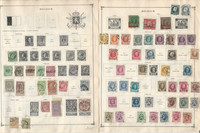 Belgium Stamp Collection on 50 Scott International Pages, To 1978
