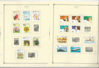 Benin Stamp Collection 30 Scott International Pages to 1975-2000