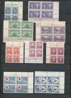 Canada Mint NH Blocks Stamp Collection, 22 Pages