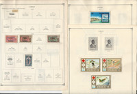 Chad, Dahomey Stamp Collection 60 Scott International Pages to 1984