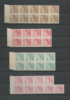 China Mint NH Block Stamp Collection, 8 Pages