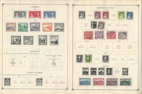Cyprus, Czech, Denmark Stamp Collection on 10 Scott International Pages