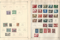 Cyprus, Croatia Stamp Collection on 30 Scott International Pages to 1984