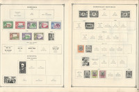 Dominica Dominican Ecuador Stamp Collection 12 Scott International Pages
