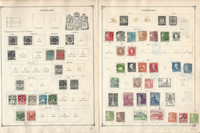 Denmark Stamp Collection on 40 Scott International Pages to 1984