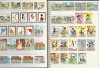 Disney Stamp Collection in Three Stockbooks, 23 Pages, Mickey Mouse ++