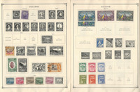 Ecuador Stamp Collection on 20 Scott International Pages To 1955