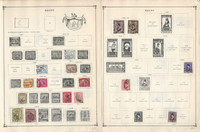 Egypt Stamp Collection on 30 Scott International Pages To 1984