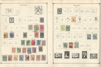 Finland Stamp Collection on 16 Scott International Pages To 1968