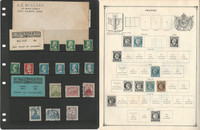 France & Colonies Stamp Collection on 30 Scott International & Stock Pages