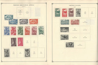 France Colonies Stamp Collection on 40 Scott International Pages To 1970