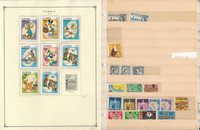 Gabon & Gambia Stamp Collection on 40 Scott International Pages To 1984