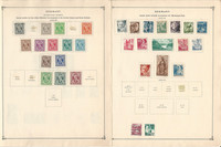 Germany Occupations Stamp Collection on 6 Scott International Pages 1945-49