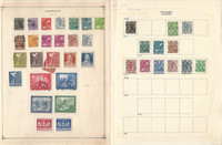 Germany Stamp Collection on 24 Scott International Pages 1947-1977