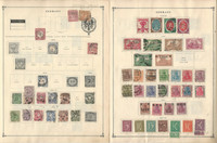 Germany Stamp Collection on 12 Scott International Pages 1872-1933