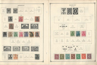 Germany Bavaria Danzig Stamp Collection on 16 Scott International Pages