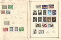 Ghana, Guadeloupe Stamp Collection 30 Scott International Pages to 1984