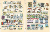 Great Britain Stamp Collection 10 Loaded Stock Pages Modern Large