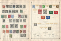 Great Britain Stamp Collection 40 Scott International Pages 1887-1984