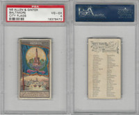 N6 Allen & Ginter, City Flags, 1888, Baltimore, USA, PSA 4 VGEX