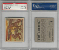 1950 Topps, Freedoms War, #11 Loading Up, Korea, PSA 6 EXMT