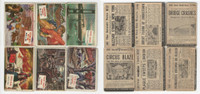 1954 Topps, Scoop, History Cards, Lot of 6, Disasters, Flood, Circus, Blizzard