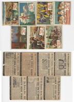 1954 Topps, Scoop, History Cards, Lot of 7, Panama Suez Canal, Brooklyn