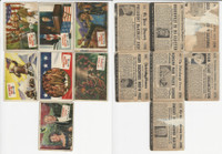 1954 Topps, Scoop, History Cards, Lot of 7, Presidents & US History, Roosevelt