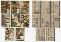 1954 Topps, Scoop, History Cards, Lot of 8, World History, Caesar Napleon