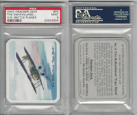 V407 Lowney, United Nations Battle Planes, 1940, #23 Tiger Moth, PSA 9 Mint