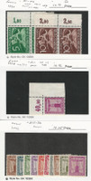 Germany, Postage Stamp, #P1-P2, S11 Tabs Mint NH, S13-S22 Hinged, JFZ