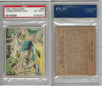 R157 Gum Inc, Uncle Sam, 1941, #35 Jungle Expedition, PSA 6 EXMT