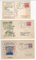 USA Ship Navy Covers, 1934, Detroit, Brooklyn, Marblehead, DKZ