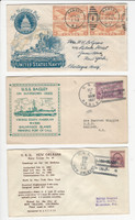 USA Ship Navy Covers, 1937, USS Ramsey, Bagley, New Orleans, DKZ