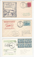 USA Ship Navy Covers, 1954-63 USS Hickox, Sperry, Flasher, DKZ