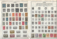 Austria & Belgium Stamp Collection on 40 Harris Pages, JFZ