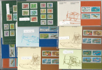 Canada Stamp Collection, 9 Presentation Cards, Airplanes, Flowers Mint NH, JFZ